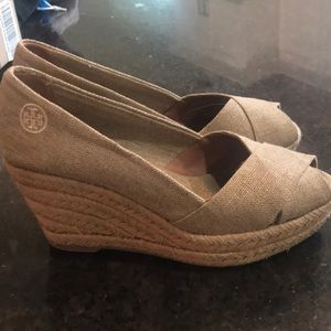 Tory Burch wedges! Good condition.